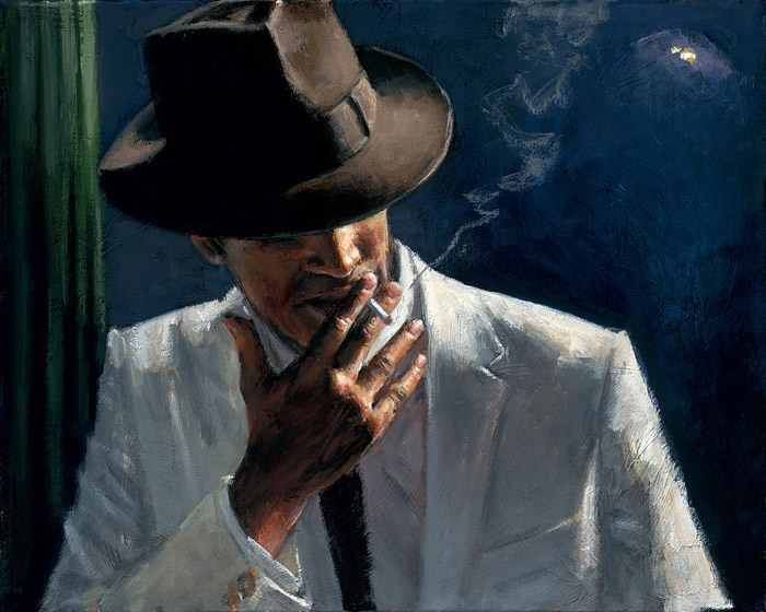 Man In White Suit II by Fabian Perez - Limited Edition on Canvas sized 16x12 inches. Available from Whitewall Galleries